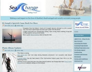 Sea Change Sailing Trust Website