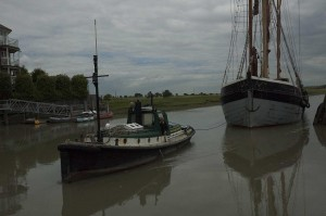 Cambria returns to Faversham's Standard Quay
