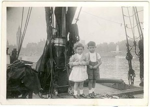 Bob Fielder and Sister; Picture from Sue Fielder's Collection