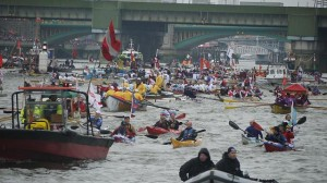 QDJP flotilla. Photo by Bruce Richardson