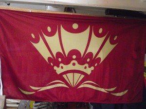 Pennant received by Cambria for taking part in the River Pageant