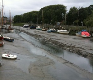 Faversham Creek Gut Way ploughed by Medway Ports; Photo by Faversham Creek Trust