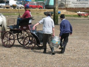 Brighlingsea Hard Horse and Cart; photo by John White of SSBR