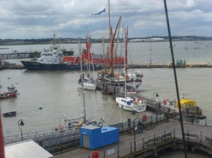 Cambria in Harwich; Picture by Don Ramsay of Sea Change
