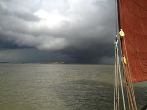 Orinoco Storm; Storm over Sheppy pictured from SB Orinoco