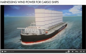 Japanese hi-tech sailing cargo ship project