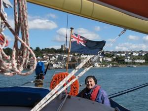 Gwen Ardley sailing Whimbrel
