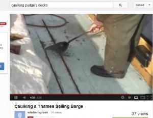 Caulking Pudge's Decks