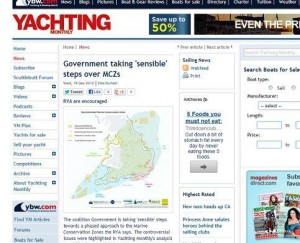 Yachting Monthly RSS feed screen grab by Matt Care