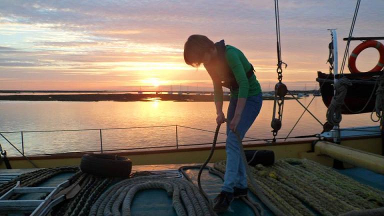 Rachel from Sea Change coiling warps