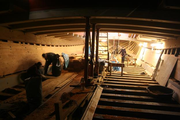 Cambria's Hold during Restoration (Dec 2010)