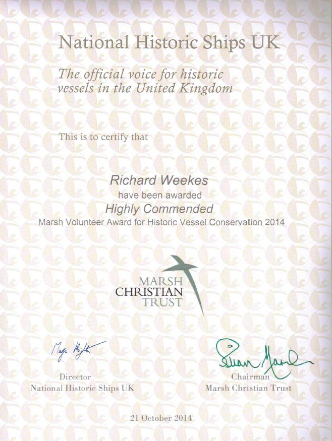 Richard Weekes Cert
