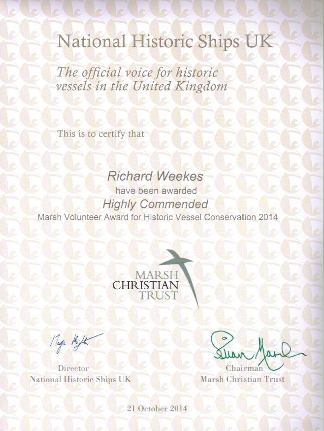 Richard Weekes Cert